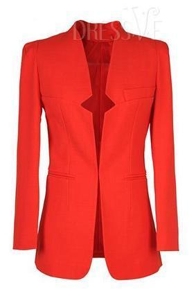 Solid Color Long Sleeve Blazer   Dressve fashion   Scoop.it