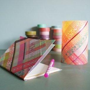Un carnet et un photophore habillés de masking tape | Bricolage pour mes enfants | Scoop.it