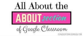 "How to Use the ""About"" Section of Google Classroom - Teaching with Technology 