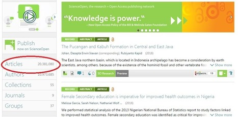 ScienceOpen smashes through the 20 million article record mark | Virtual R&D teams | Scoop.it