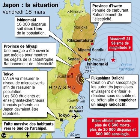 Un point sur la situation au soir du 18 mars 2011. | Japan Tsunami | Scoop.it