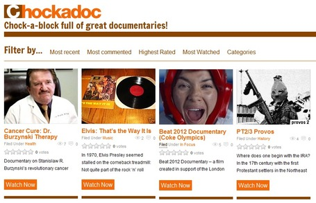 Watch free documentary films online | Chockadoc.com | Technology in Art And Education | Scoop.it