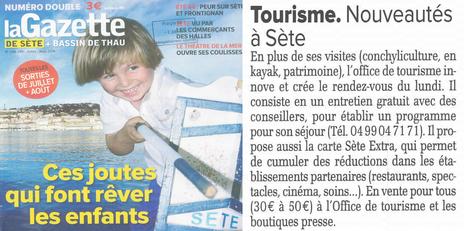 Le service + de l'Office de Tourisme de Sète : accueil du RDV, développement des activités grâce à la carte Sète Extra | #SETE : office de tourisme hyper connecté | Scoop.it