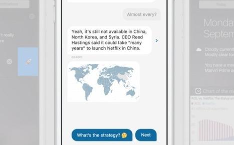 Quartz lance l'application de news qui dialogue avec les lecteurs | Manager plurimédia | Scoop.it