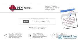 PDFzorro : une application en ligne pour éditer ses fichiers PDF ~ Freewares & Tutos | EcritureS - WritingZ | Scoop.it
