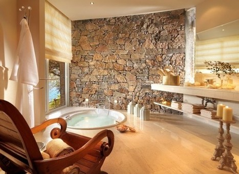 Monday Moment #2: Relax in a Luxurious Greek Bathroom - The Boundary Bathrooms Blog   Bathrooms   Scoop.it