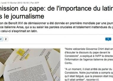 Journalisme : le latin réhabilité ! | Net-plus-ultra | Scoop.it