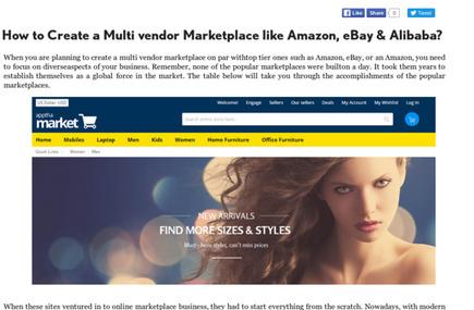 How to Create a Multi vendor Marketplace like Amazon, eBay and Alibaba?   Wordpress, Magento & Joomla Plugins Download   Scoop.it