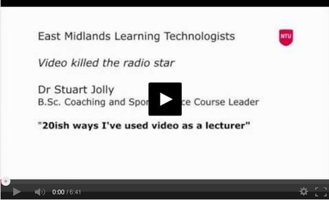 20-ish ways to use videos in learning and teaching – Digital Practice - Nottingham Trent University   Aprendiendo a Distancia   Scoop.it