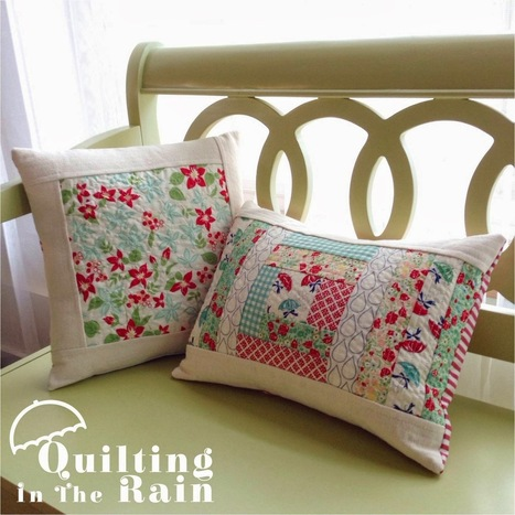 Moda Bake Shop: Quilt As You Go Improv Pillows | Quilting and Sewing for untalented overachievers | Scoop.it