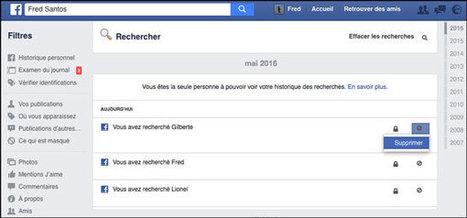 Effacer tout son historique de recherche Facebook d'un coup | Freewares | Scoop.it