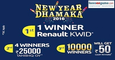 Win a Renault Kwid with New Year Dhamaka At Foreseegame   Online games   Scoop.it