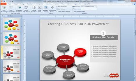 Free 3D Business Plan Diagram Idea for PowerPoint | Diagrams | Scoop.it