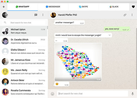 This app lets you chat in Facebook, WhatsApp and Slack simultaneously | Into the Driver's Seat | Scoop.it