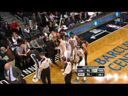 Lakers Invade Nets Huddle After Jason Kidd Spil   Best YouTube Videos   Scoop.it