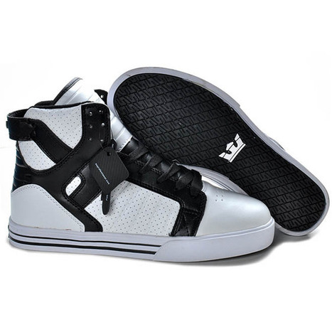 Supra Skytop High Shoes Black White - Men Supra Skate Shoes | my style | Scoop.it