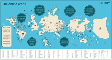 Une carte du monde sur l'utilisation globale d'internet | Model & Inspiration | Scoop.it