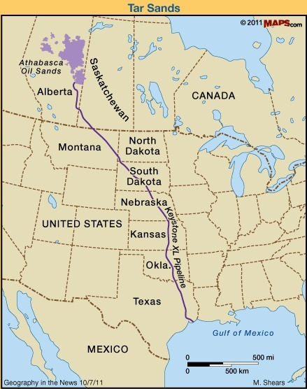 Geography in the News: Keystone Pipeline and Canadian Tar Sands | Geography Education | Scoop.it