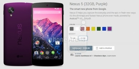 Google Nexus 5 is filtered in several Color Options - ItsusefulStuff | Technology | Scoop.it