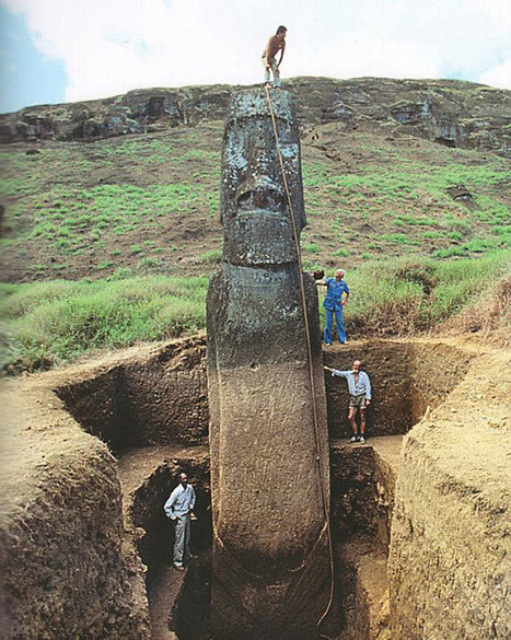 "The Easter Island ""Heads"" Have Bodies - Mental Floss 