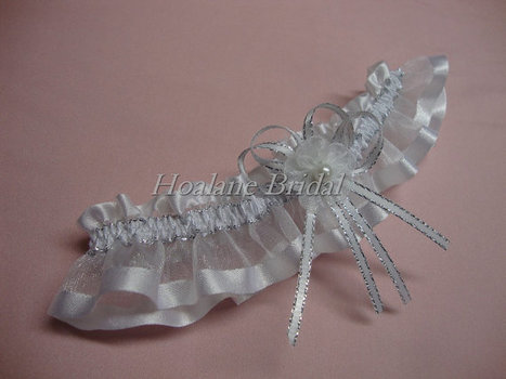 Garter, organza ribbon garter, Wedding/Prom garter | Wedding Garters | Scoop.it