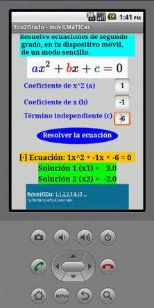 Proyecto moviLMáTICas. Publicación de App Ecuaciones de segundo grado (cuadráticas) #apps #android #mlearning | Smartlearn | Scoop.it