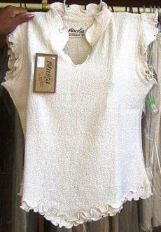 Weißes ärmelloses Shirt mit Rüschen Abschluss, ökologische Baumwolle | Produkte aus Peru | Scoop.it