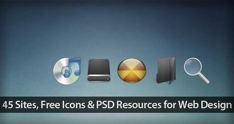 45 Sites, packs icônes gratuites et ressources PSD licence gratuite pour le graphisme de conception Web | Veille informatique | Scoop.it
