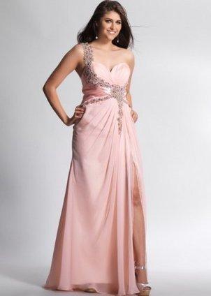 Long Rose Pink Beaded Chiffon Dress with Slit [Rose Pink Beaded Chiffon Dress] - $172.00 : Prom Dresses 2014, Cheap Prom Dresses, Prom Gowns | Prom dress | Scoop.it