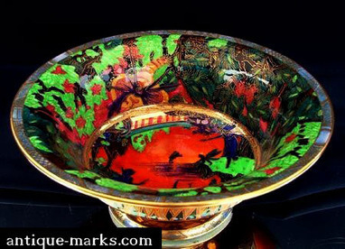 The Antiques Collection featuring the Wedgwood Fairyland Lustre Bowl | Antique Pottery & Porcelain Marks | Scoop.it