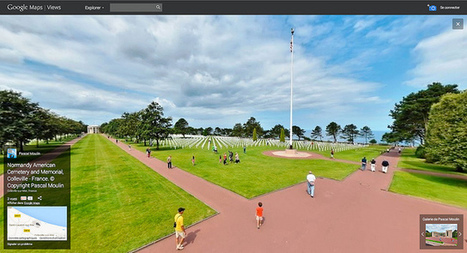 Normandy American Cemetery and Memorial, Colleville-sur-Mer - France sur Google Maps Views | moulin360panoramic | Scoop.it