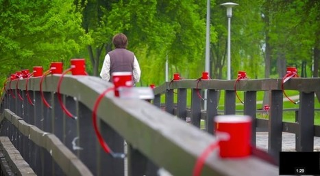 Nescafe Locks Thousands Of Red Mugs To Fences Then Provides Combination With Facebook App | CNC Jewelry Post | Scoop.it