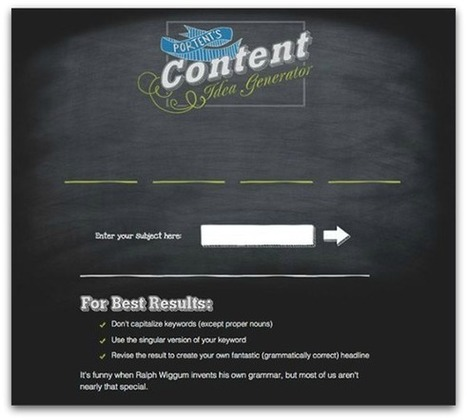 5 Free Blog idea Generators to liven up your Content | Technology in Business Today | Scoop.it