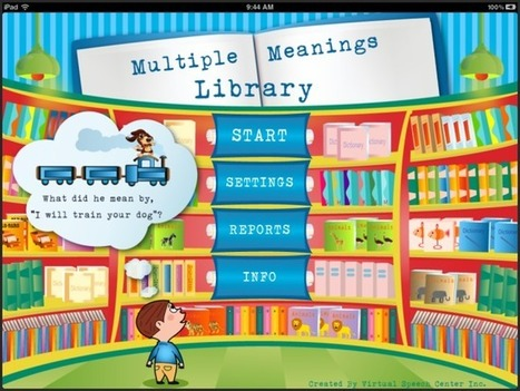 Multiple Meaning Words App | Speech and Language Therapy Apps | Scoop.it