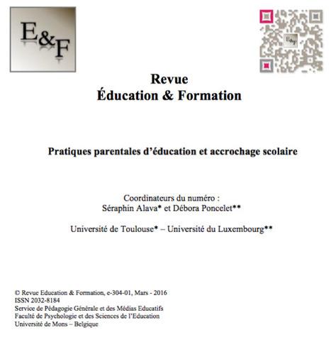 Education & Formation : Parution du e-304-01 (Mars 2016) | Revue Education & Formation | Scoop.it