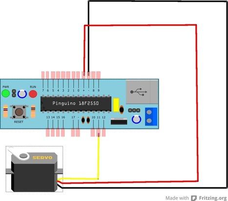 Control de servos con Pinguino | tecno4 | Scoop.it