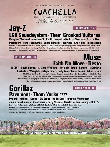 The Electronic Reign: Coachella to embrace a nearly 50% presence of dance music artists this year | DJing | Scoop.it