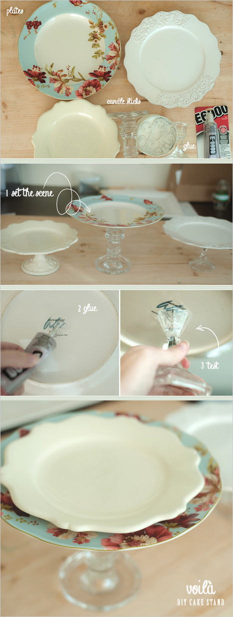 How to make your own vintage cake stand | Green Weddings | Scoop.it