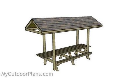 Building a Picnic Table Roof | MyOutdoorPlans | Free Woodworking Plans and Projects, DIY Shed, Wooden Playhouse, Pergola, Bbq | Garden Plans | Scoop.it