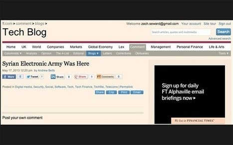 Financial Times hacked by Syrian Electronic Army - Hack Reports | Hack Reports | Scoop.it