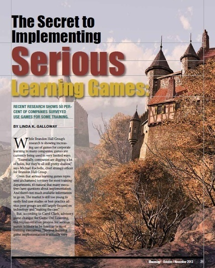 Implementing Serious Learning Games | Game On! Learning | Games and education | Scoop.it
