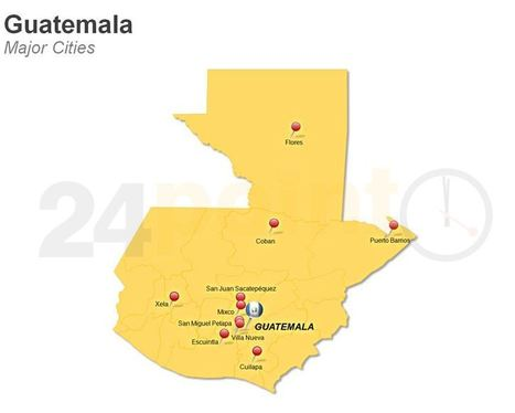Showing Major Cities of  Guatemala PowerPoint Map | PowerPoint Presentation Tools and Resources | Scoop.it