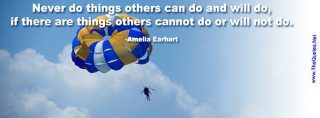 Facebook Cover Image - Amelia Earhart Quote - TheQuotes.Net | Facebook Cover Photos | Scoop.it