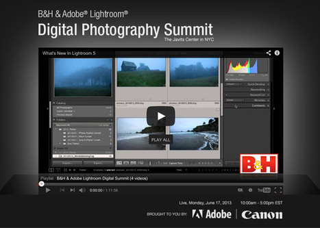 "Watch the entire ""B&H Photo Lightroom Digital Photography Summit"" FREE (courtesy of B&H) 