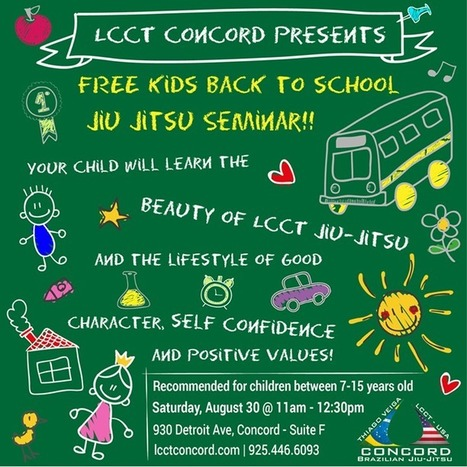 """LCCT Concord FREE kids seminar Saturday August 30th 11am!! Time for everyone to """"flow like water""""!! 