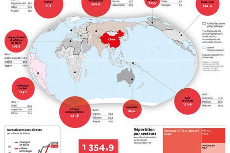 Cartographie des investissements chinois dans le monde [Courrier International]   DataViz   Scoop.it