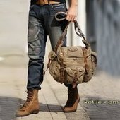 Casual cool canvas cross body satchel bags for mens | personalized canvas messenger bags and backpack | Scoop.it