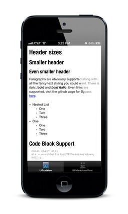 Bypass: Skip the HTML, Bypass takes markdown and renders it directly on Android and iOS. | iPhone and iPad development | Scoop.it