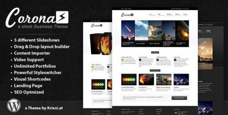 Corona Wordpress Theme – Business Portfolio Blog Theme | Premium Wordpress Themes | Scoop.it