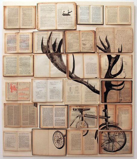 Book Paintings by Ekaterina Panikanova | Colossal | omnia mea mecum fero | Scoop.it